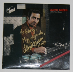signed LP cover